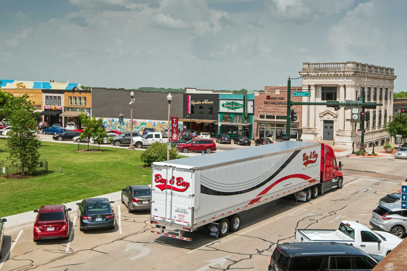 Bay & Bay truck driving through town