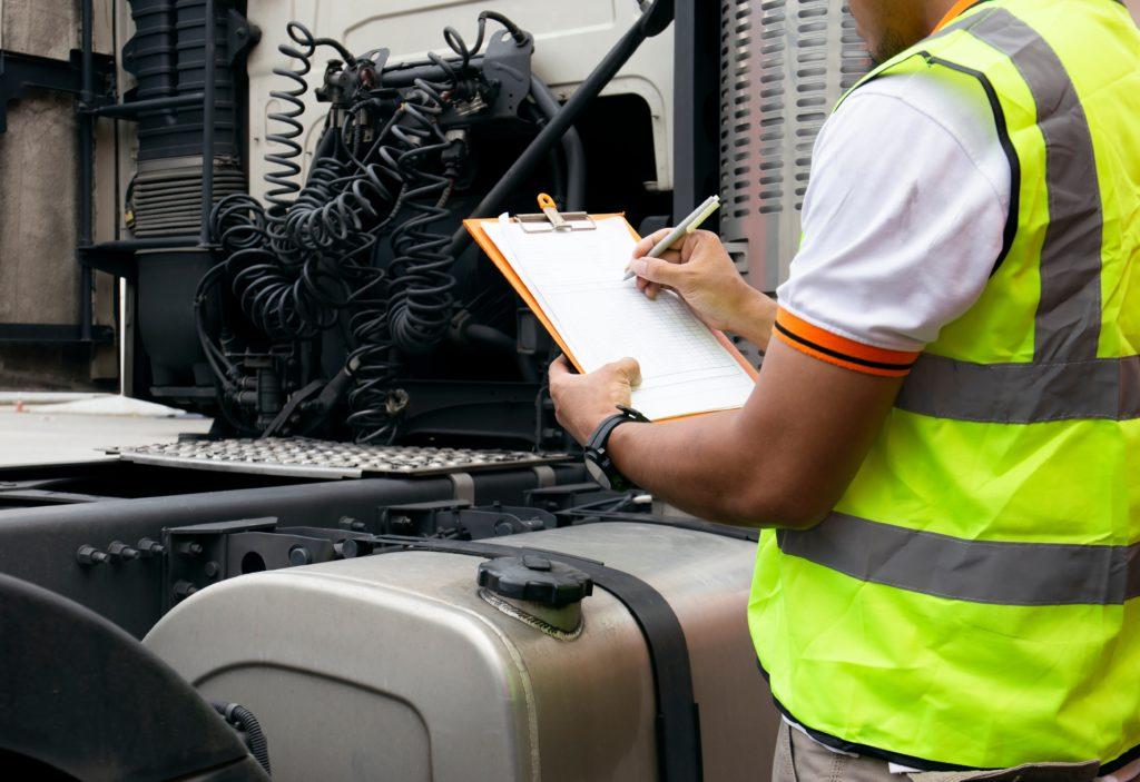 safest fleet cdl jobs minnesota family owned truck getting inspected
