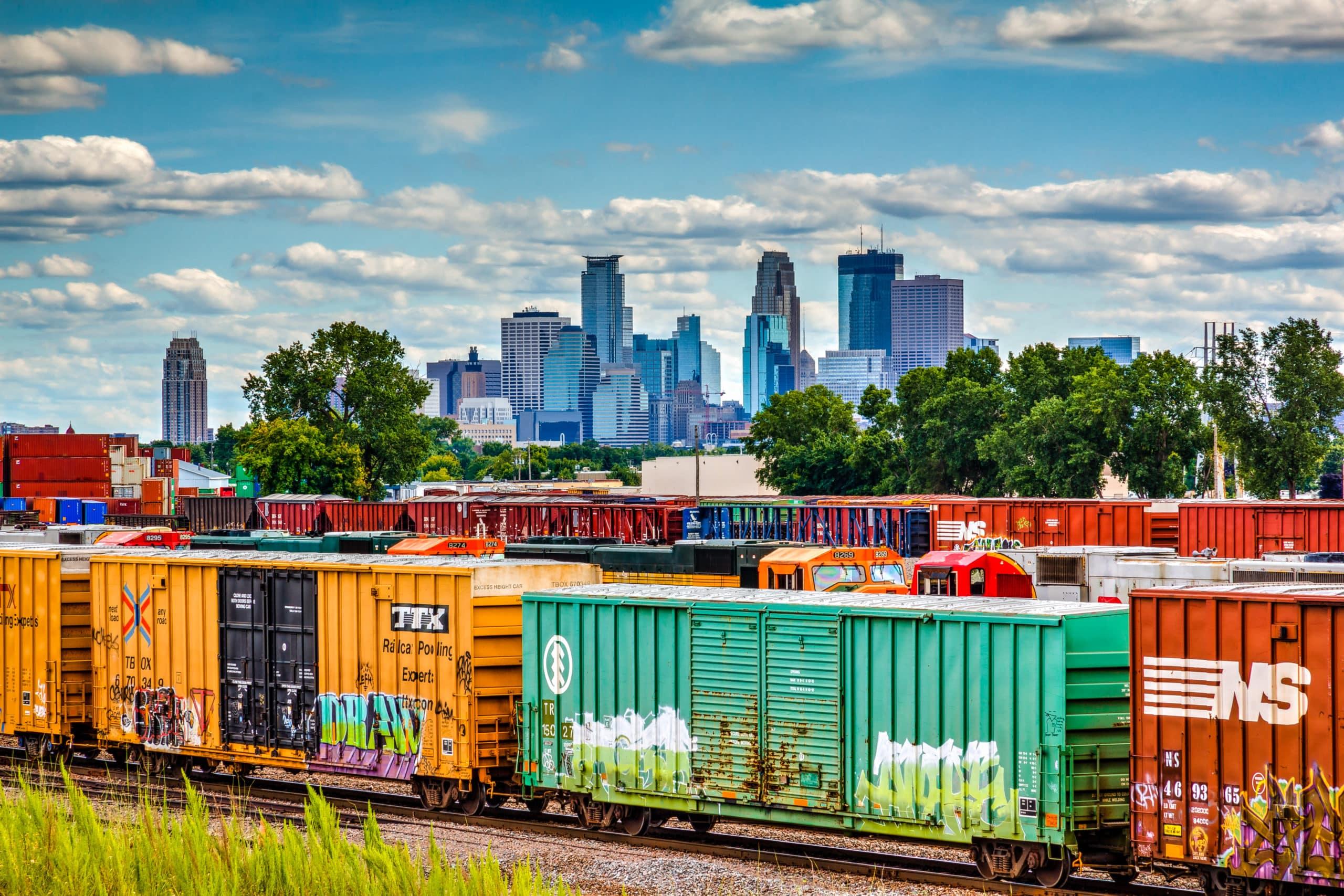 multi-regional shipping intermodal train